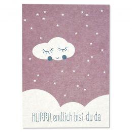 Postkarte Hurra Pink