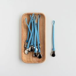 Schnullerkette geflochten Blau